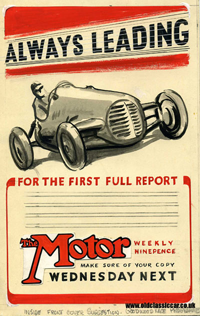 Artist 39 s proof for an advert destined to appear in a motor for Cover jones motor company