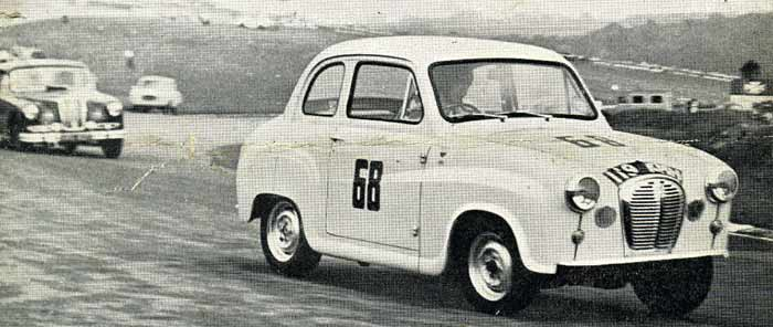 Austin A35 hotly pursed by a Riley Pathfinder