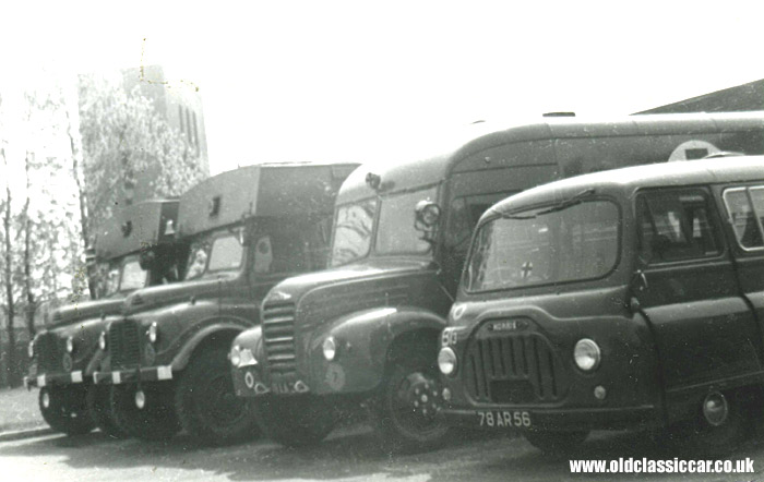 Various RAF vehicles including a J2 Minibus