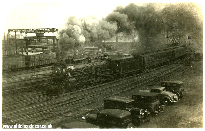 A steam loco seen at Boston