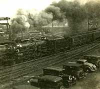 A scene at a US Railroad