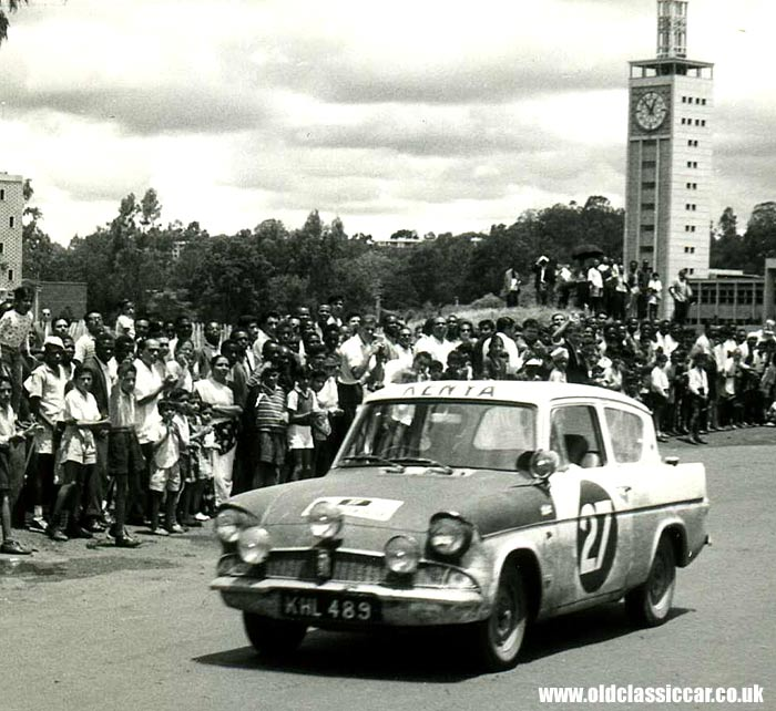 Ford Anglia rally car