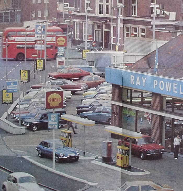 Poster Of A 1970s Car Garage Ray Powell Ltd In Tottenham