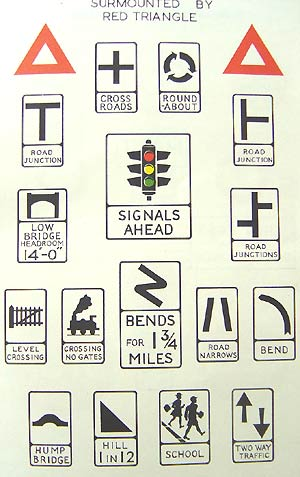 old road signs