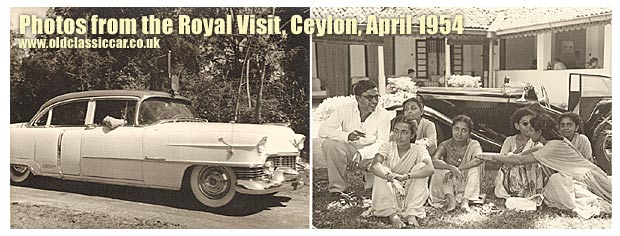 Cars from the Royal visit to Ceylon, in 1954