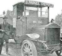 A Saurer truck in Sheffield