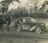 A Morris 10M saloon car