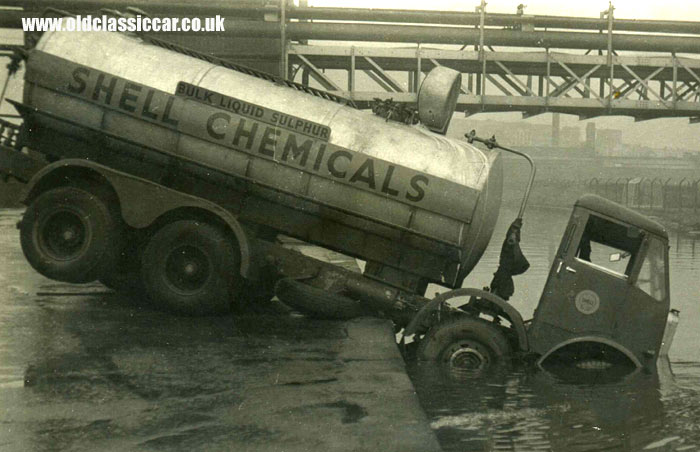 A 1950's tanker lorry