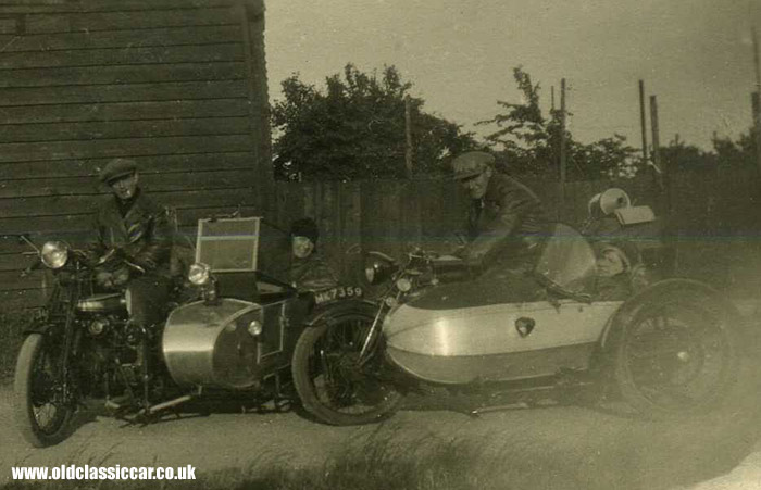 Two 1920s sidecars