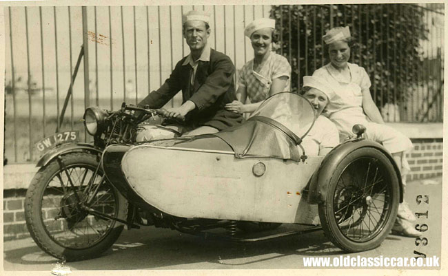 Matchless motorcycle with sidecar