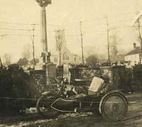A vintage sidecar in 1923