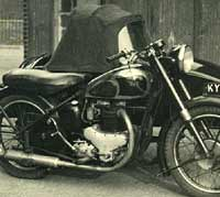 BSA motorbike with side-car