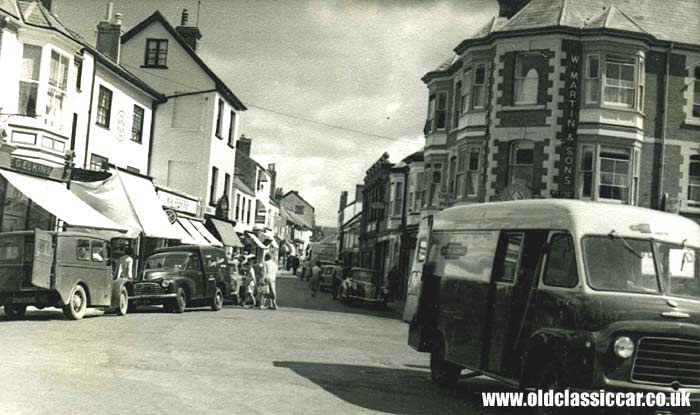 A Commer and other commercials in Sidmouth