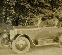 A Vintage Singer Ten tourer car