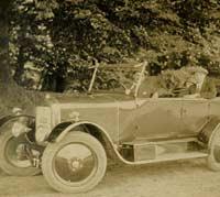 A Vintage Singer Ten tourer car