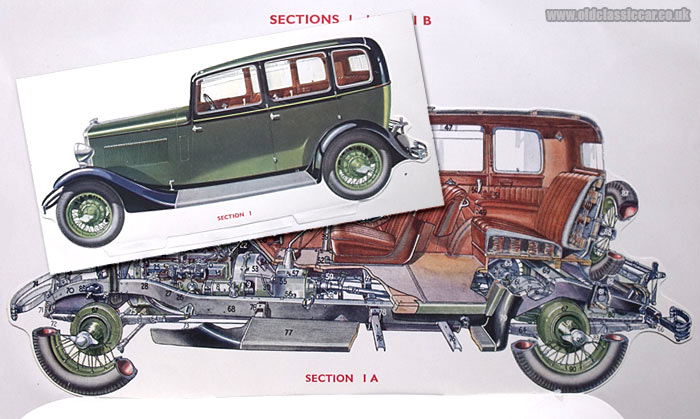 Cutaway view of a car