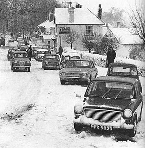 cars stuck in the snow, sent in by Les
