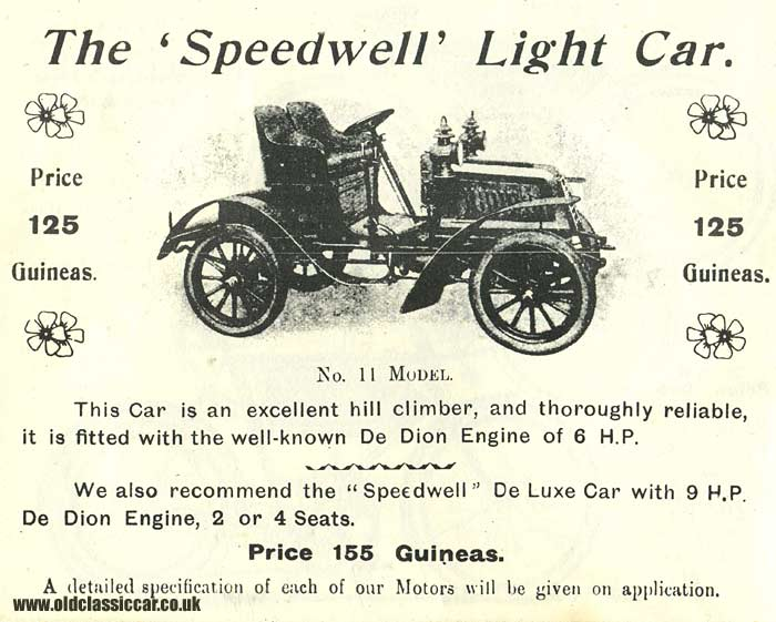 The Speedwell car