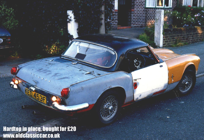 triumph spitfire mk3 sports car