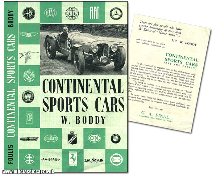 Bill Boddy's book on sports cars