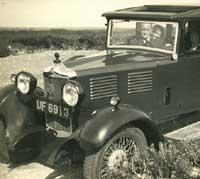 A vintage Standard car