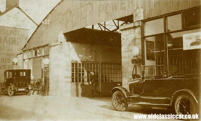 Outside the Philpot Ltd garage