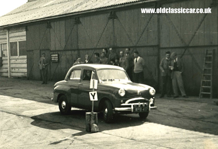 948cc Standard saloon negotiates an autotest