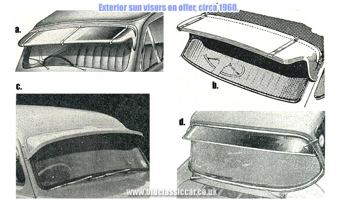 External sun visors for cars