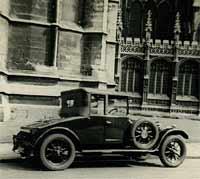 Rear view of the Sunbeam car