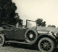 Roof down on the 1924 Sunbeam car