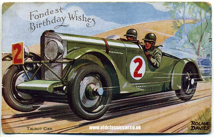 Classic carrelated greetings cards from the 1930s 1950s – Birthday Cards with Cars