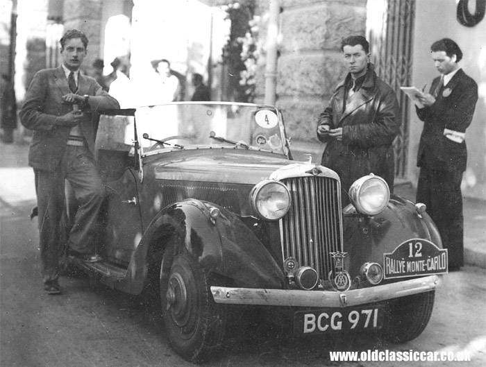 A pre-war Talbot on the Monte Carlo rally