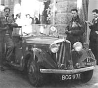 A Talbot 10 sports tourer