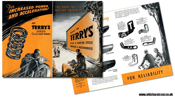 A leaflet for Terry's bicycle and motorcycle accessories