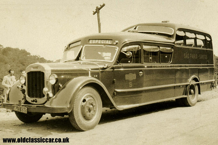 A Brazilian-bodied Thornycroft bus from 1933