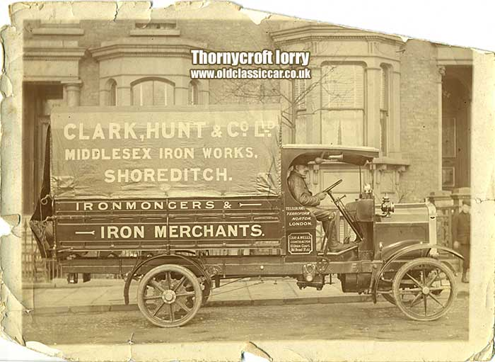 A Thornycroft lorry, possibly a BT