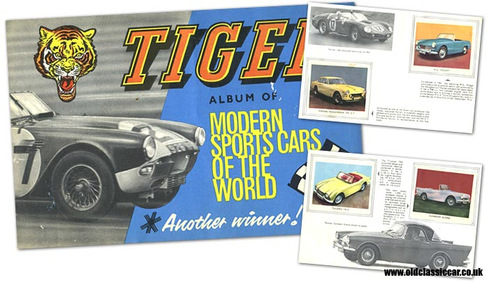 Tiger sportscars sticker album