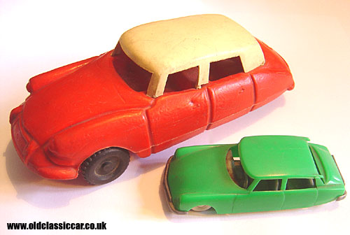 Two toy Citroens together