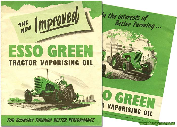 Brochure for Esso TVO tractor fuel