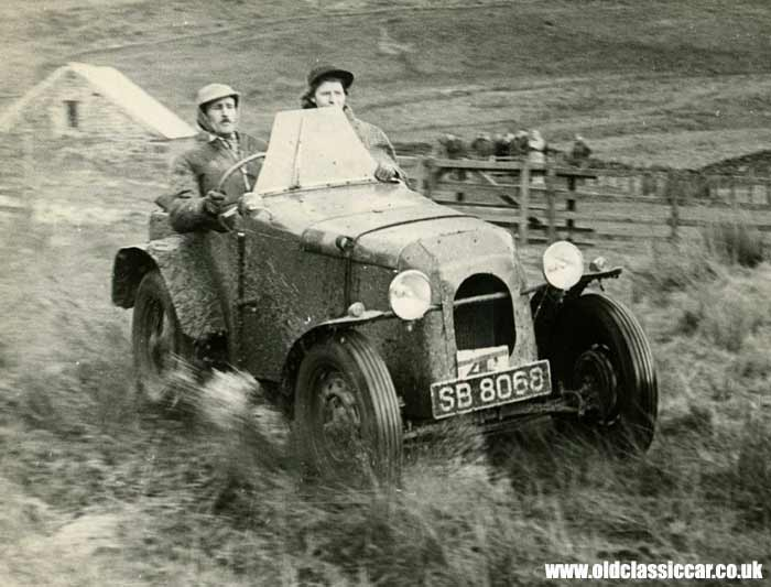 Ford/Austin trials car in action