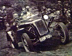Austin 7 based trials car competing in the 1950s