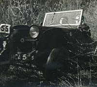 Car at speed during a trial