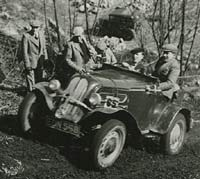 Chester Motor Club trials car in 1952