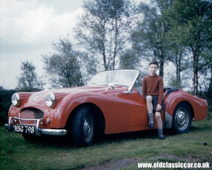 A 1955 Triumph TR2 sportscar i...