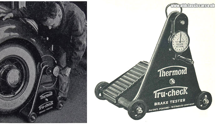 Test an automobile's brakes with the Tru-Check