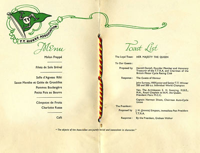 A look inside the TTRA menu
