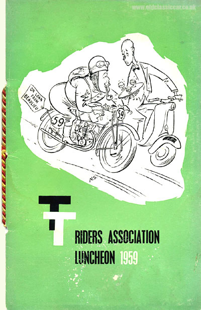 Cover of the TT Riders Association menu