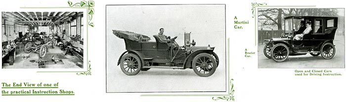 Tuition regarding vintage cars in 1910