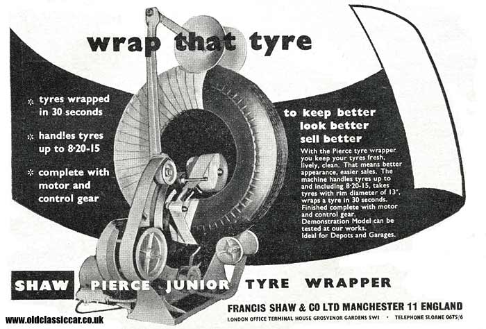 Device for wrapping car tyres