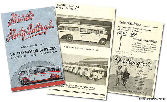 Booklet for United Motor Services of Sheffield